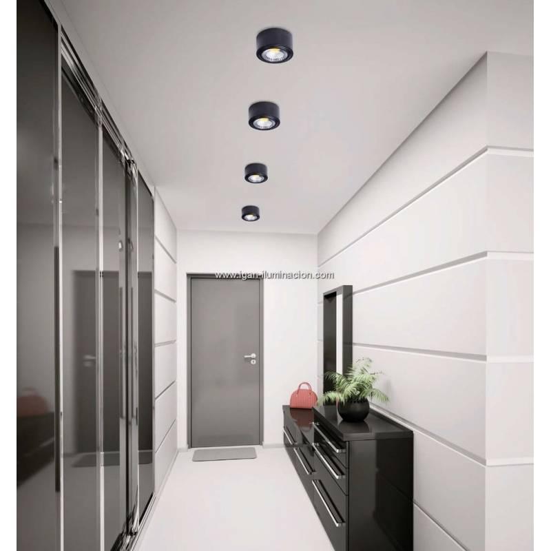 Plafon de techo tubi led aluminio en color negro de daviu - Plafon led techo ...