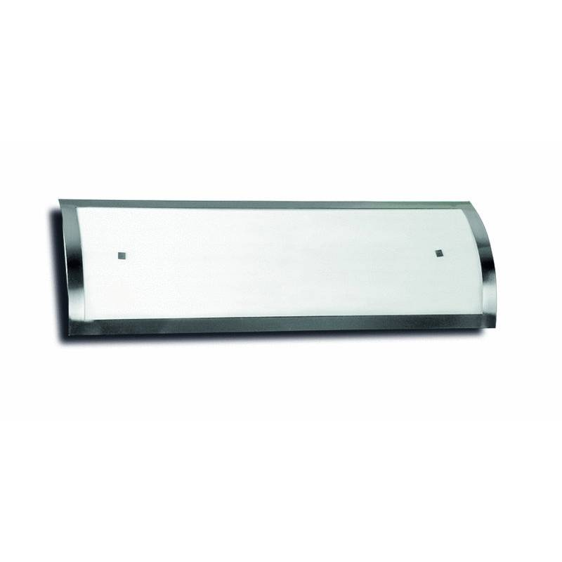 Plafon de techo lux 2x55w fluorescente en acero inox de daviu for Lampara cocina fluorescente