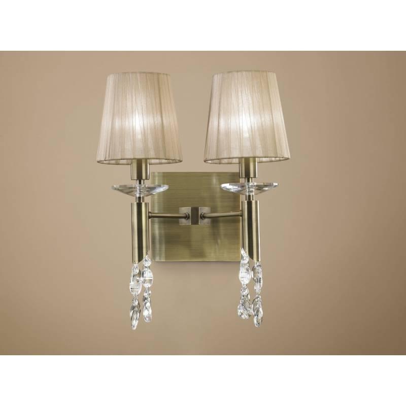 Wall Lamps Tiffany : Mantra Tiffany wall lamp 2 shade leather.