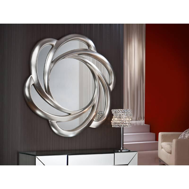 Espejo de pared frida pan de plata de schuller decoracion for Espejo pared plata