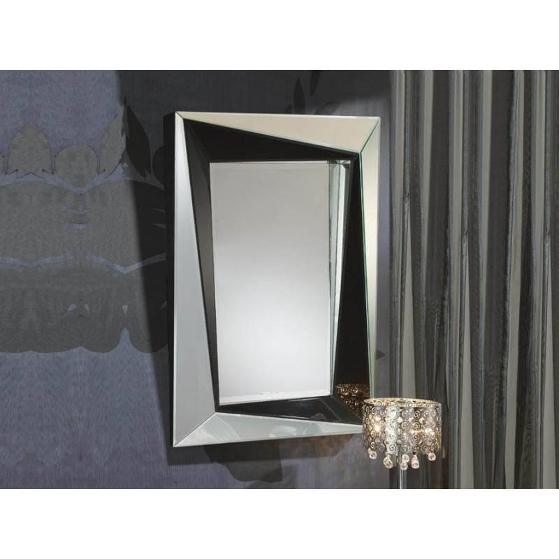 Espejo de pared cristal negro la nuit rectangular de schuller for Espejo rectangular pared