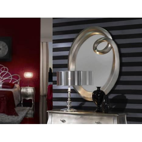 Espejo de pared ronda peque o pan de plata de schuller Espejos pequenos pared