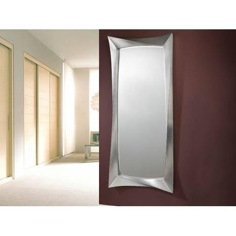 Espejo de pared deco grande pan de plata envejecida de for Precio de espejos grandes