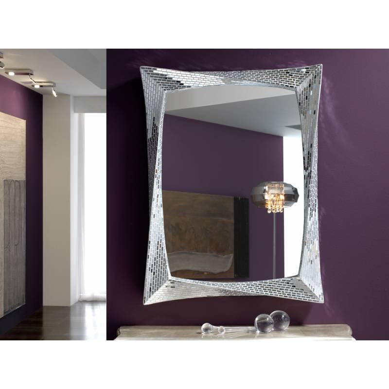 Espejo de pared gaudi rectangular mosaico de schuller for Espejo rectangular pared