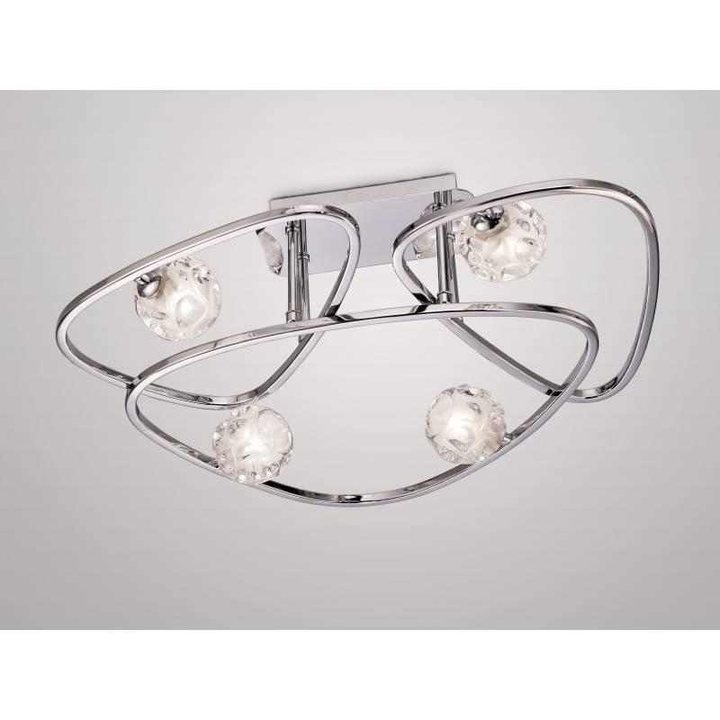 Iluminacion Baño Lux: > Mantra iluminacion > Lampara de techo Lux 4 luces de Mantra