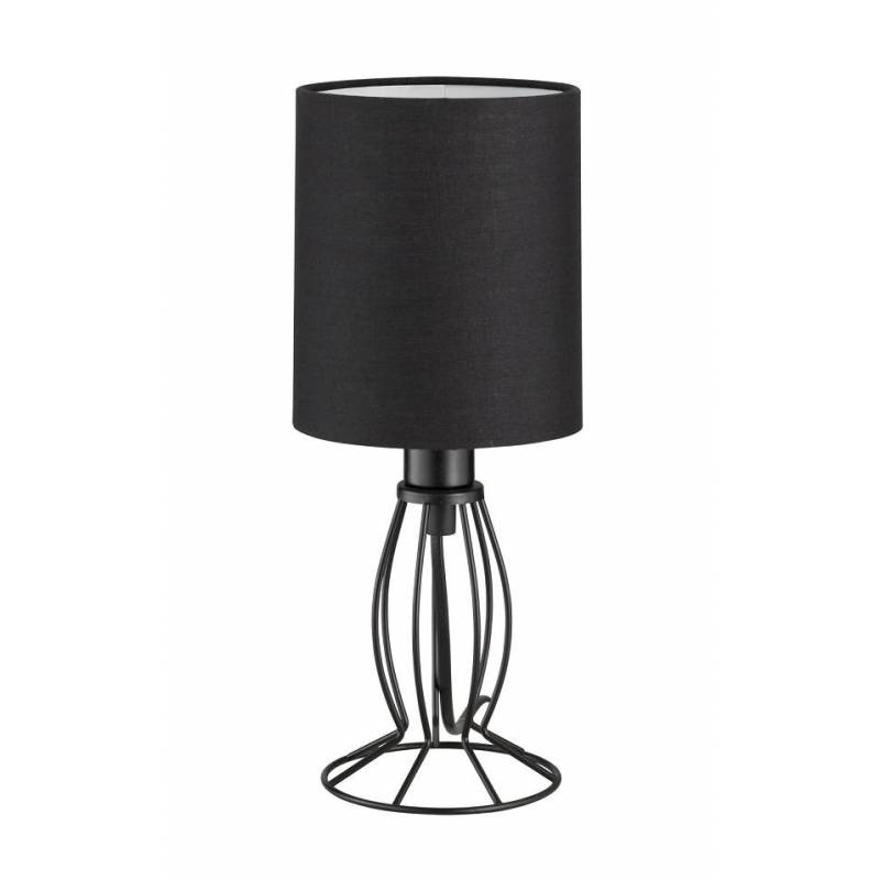 L mpara de mesa ling tela negro trio - Lamparas de mesa clasicas ...
