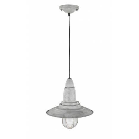 Lámpara colgante Fisherman 1 luz gris - Trio