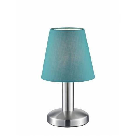 Lámpara de mesa Mats 1 luz tela turquesa - Trio