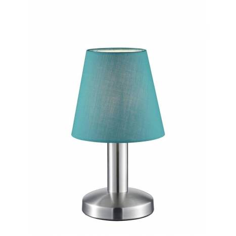 TRIO Mats table lamp 1L turquoise