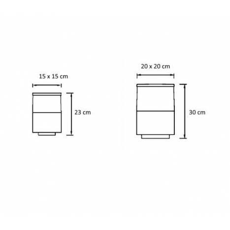Sobremuro Cubik antracita IP54 - Leds C4