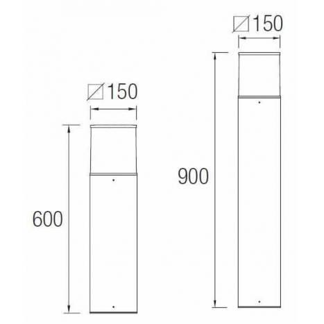 Baliza Cubik antracita IP54 - Leds C4