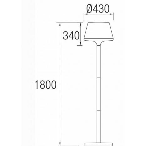 LEDS C4 Moonlight floor lamp anthracite
