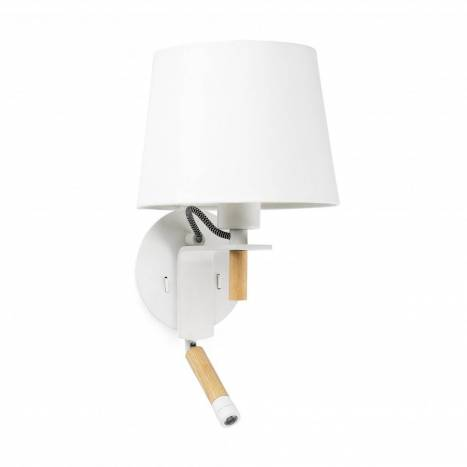 FARO Fusta wall lamp 2L white