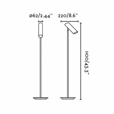 Lámpara de pie Link 1 luz negro - Faro