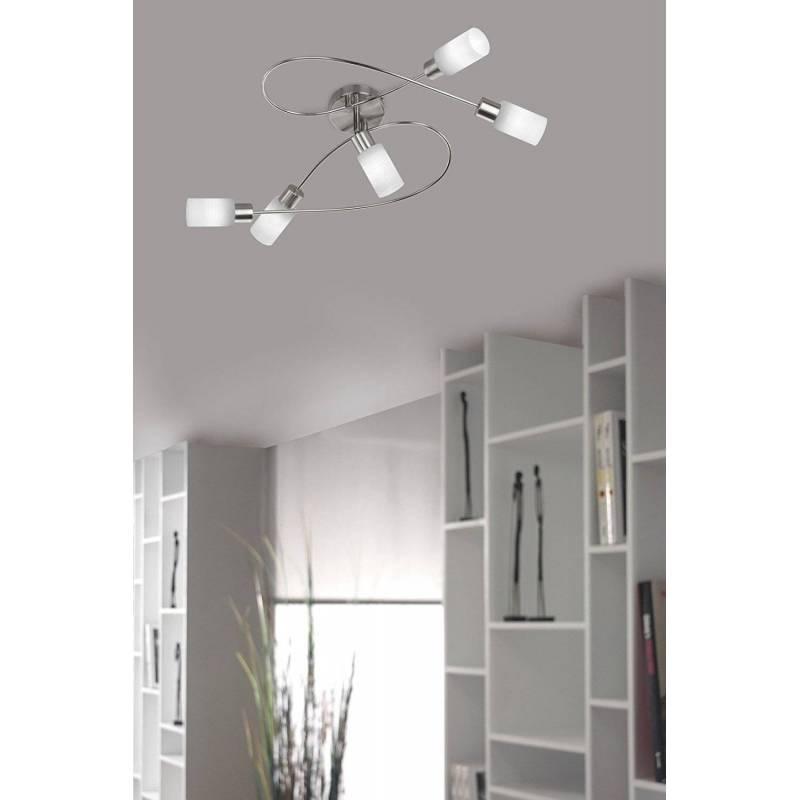 L mpara de techo strahler 5 luces led trio - Luces de techo led ...