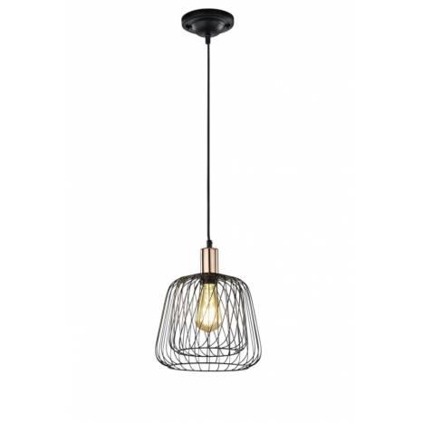 Lámpara colgante Sanna 1 luz negro - Trio