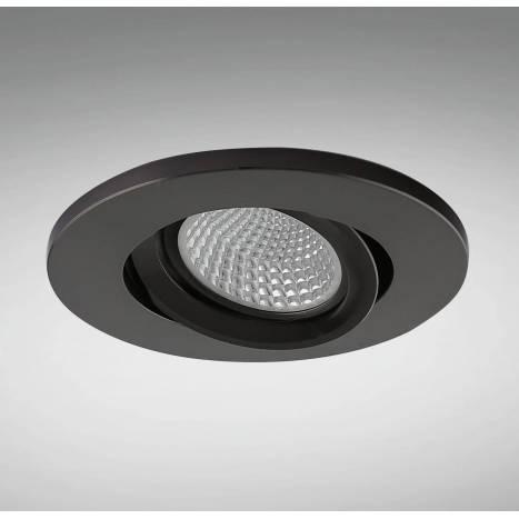 Foco empotrable NC1860RBK redondo negro - YLD