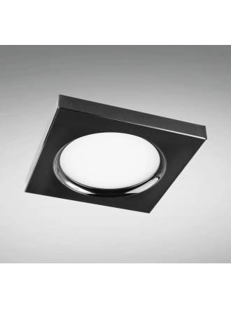 Foco empotrable LC1445SQBK cuadrado negro - YLD