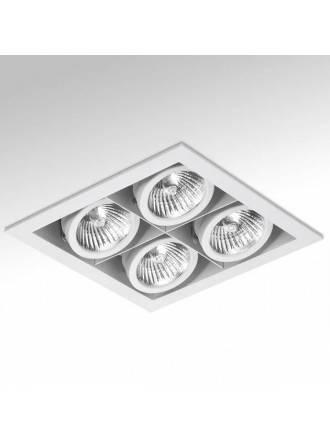Foco empotrable Cardan Mini 4 luces blanco - Onok