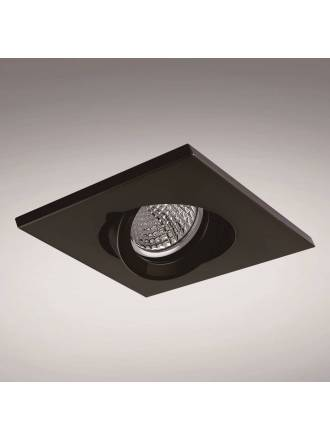 YLD NC1860SQBK recessed light black aluminium