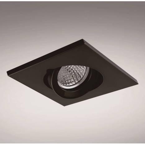 Foco empotrable NC1860SQBK cuadrado negro - YLD