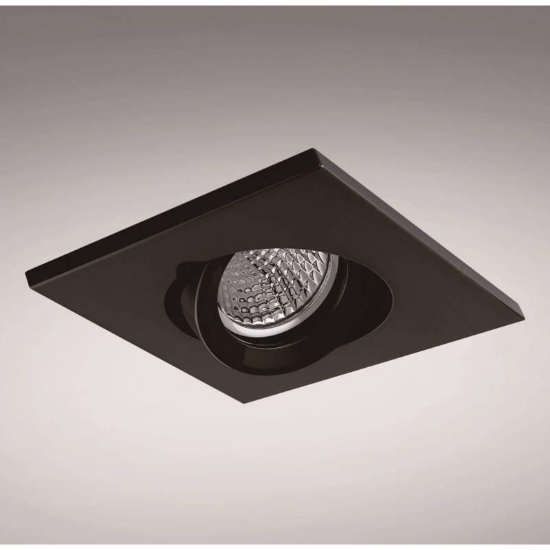 YLD NC1860SQBK recessed light black aluminium