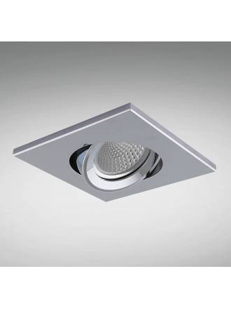 YLD NC1860SQCH recessed light chrome aluminium