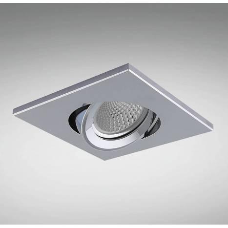 YLD NC1860SQCH recessed light chrome aluminium