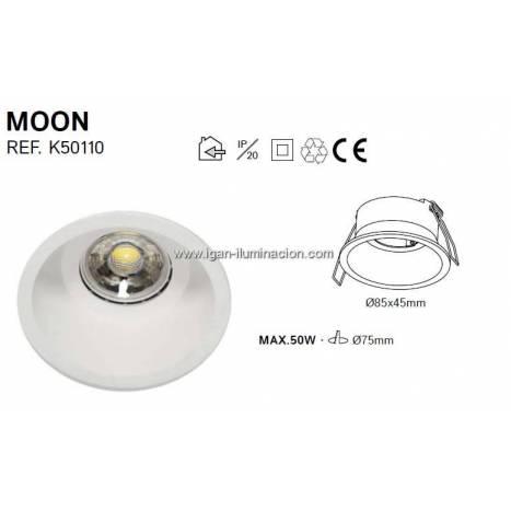 Foco empotrable Moon fijo blanco - Kohl