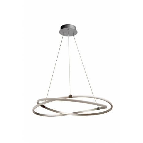 Mantra infinity pendant lamp led 60w silver aloadofball Gallery