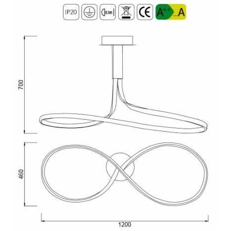 MANTRA Nur XL ceiling lamp 50w aluminium