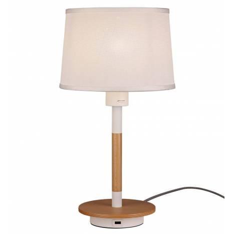 Lámpara de mesa Nordica 2 USB tela - Mantra