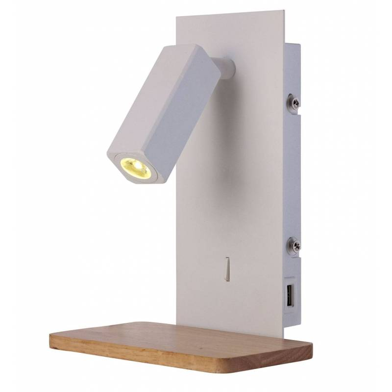 Wall Lamps White : MANTRA Nordica 2 wall lamp LED USB metal white