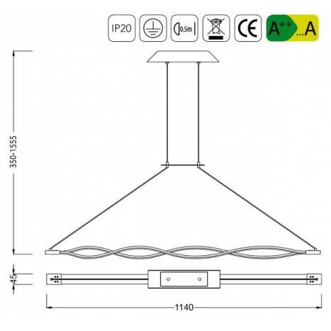 Lámpara colgante Sahara LED 36w forja - Mantra
