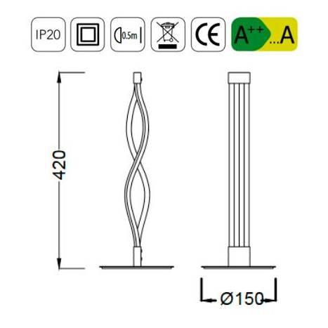 Lámpara de mesa Sahara LED 6w forja - Mantra