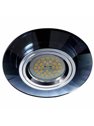 CRISTALRECORD Luxor round recessed light black glass
