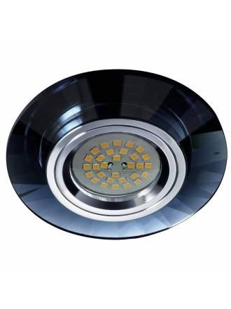Foco empotrable Luxor circular cristal negro - Cristalrecord