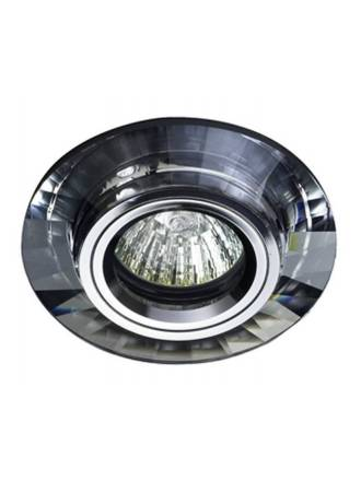 Foco empotrable Luxor circular cristal espejo - Cristalrecord