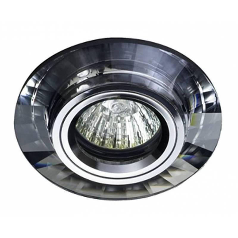 Foco empotrable luxor circular cristal espejo cristalrecord for Espejo circular