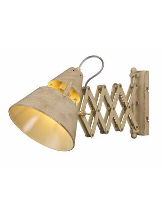 MANTRA Industrial wall lamp extensible sand metal