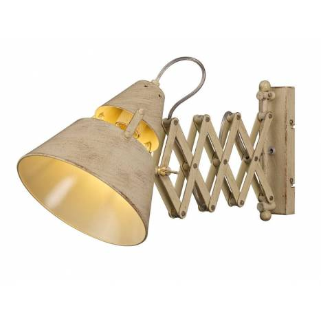 bathroom light fixtures mantra industrial wall lamp extensible sand metal 10846
