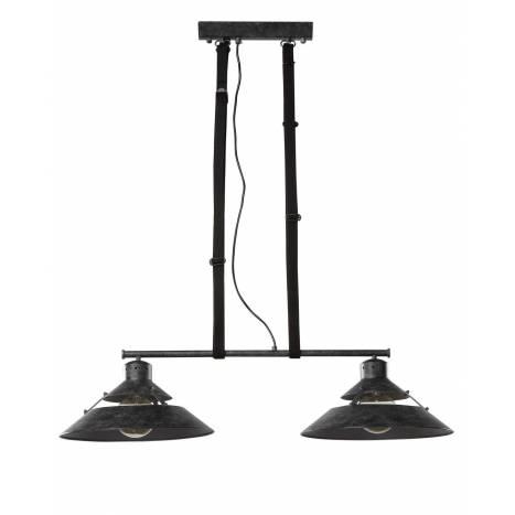 Lámpara colgante Industrial 2 luces óxido - Mantra