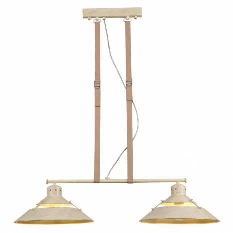 Lámpara colgante Industrial 2 luces arena - Mantra