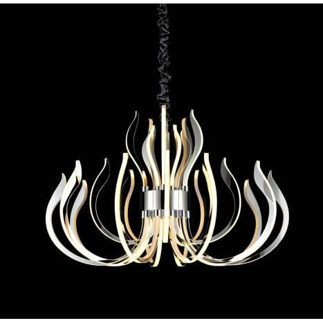 Lámpara colgante Versailles LED 256w cromo - Mantra
