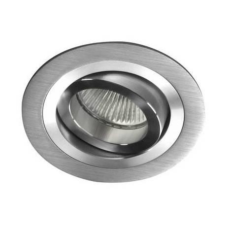CRISTALRECORD Helium round recessed light aluminium