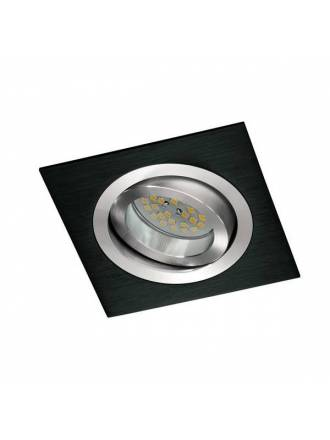 CRISTALRECORD Helium square recessed light black
