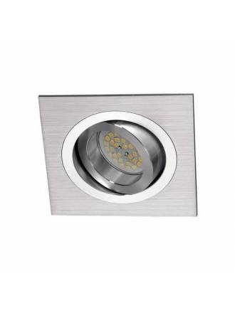 CRISTALRECORD Helium square recessed light aluminium