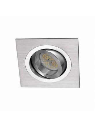 Foco empotrable Helium cuadrado aluminio - Cristalrecord