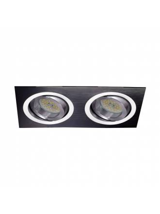 CRISTALRECORD Helium 2 lights recessed light black