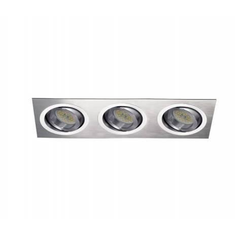 Foco empotrable Helium 3 luces aluminio - Cristalrecord